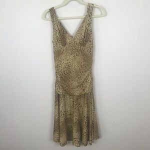 Betsy Johnson New York Metallic Animal Print Dress